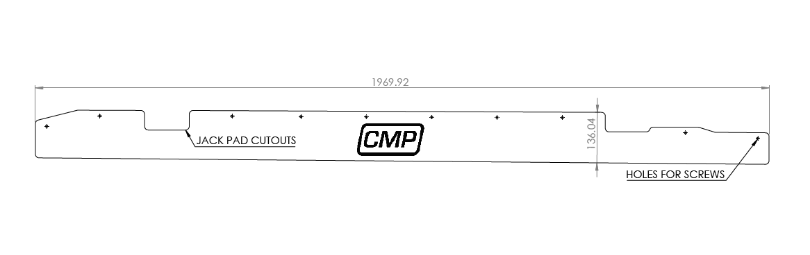 E46 Side Skirt Extensions CAD File