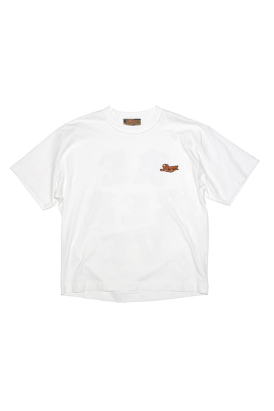 Box Tee Crew Logo Back White