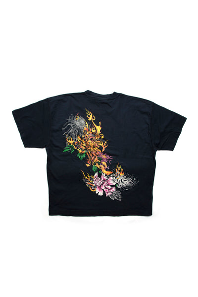 Box Tee Fire Washed Black