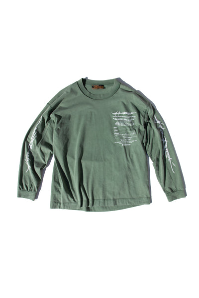 Box Tee Longsleeve Massage Green