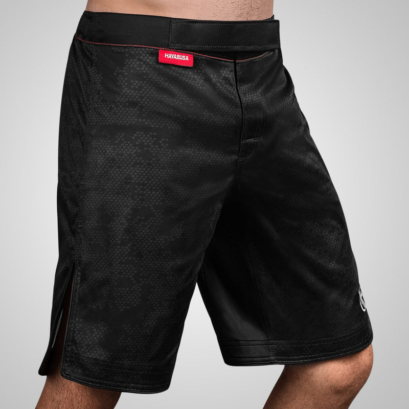 Hayabusa Hexagon Fight Short - Black - Full Contact Sports