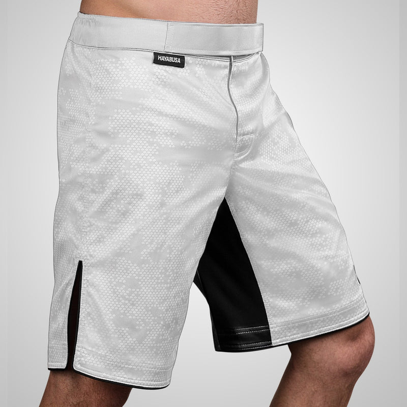 Hayabusa Hexagon Fight Short - White - Full Contact Sports