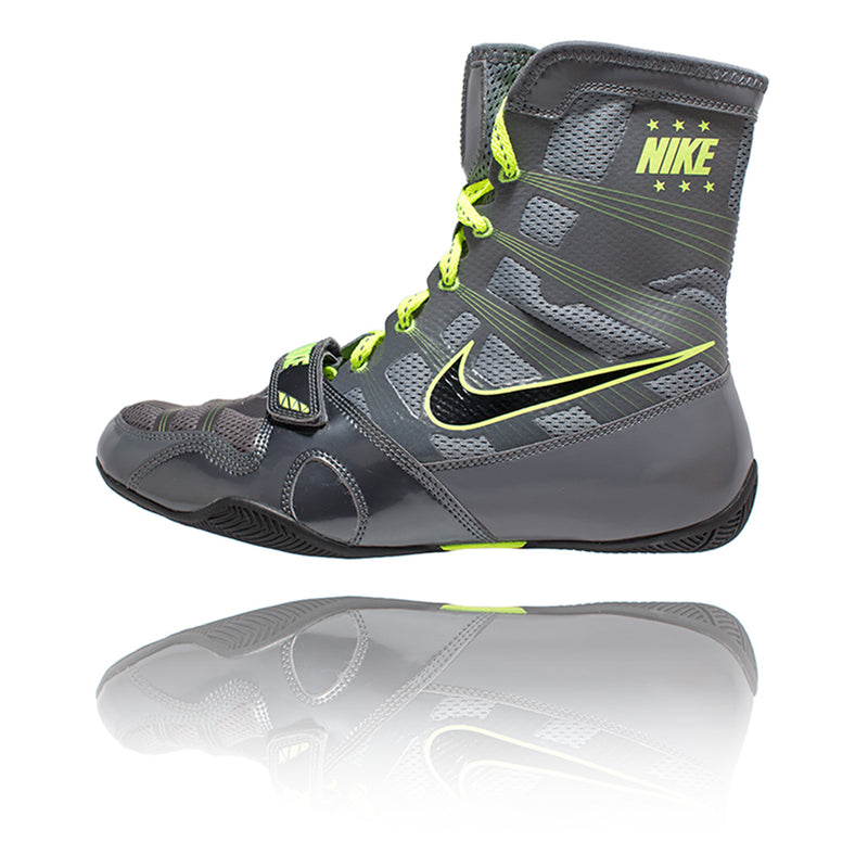 Nike Hyper KO Boxing Shoe - Grey/Volt - Full Contact Sports