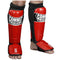 Combat Sports Pro Style MMA Shin Guards (Leather) - Full Contact Sports
