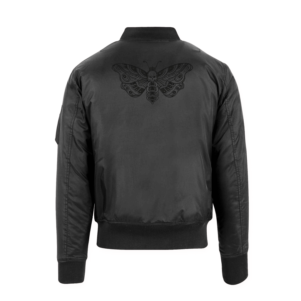 Adults Unisex Death Moth Bomber