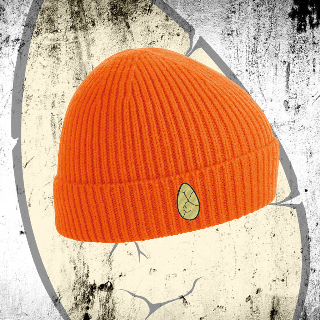 LITTLEST CHICKEN OFFICIAL - Embroidered Egg Orange Beanie