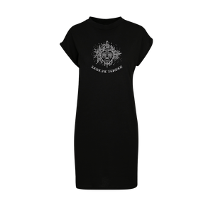 Love Hurts Embroidered T-shirt Dress