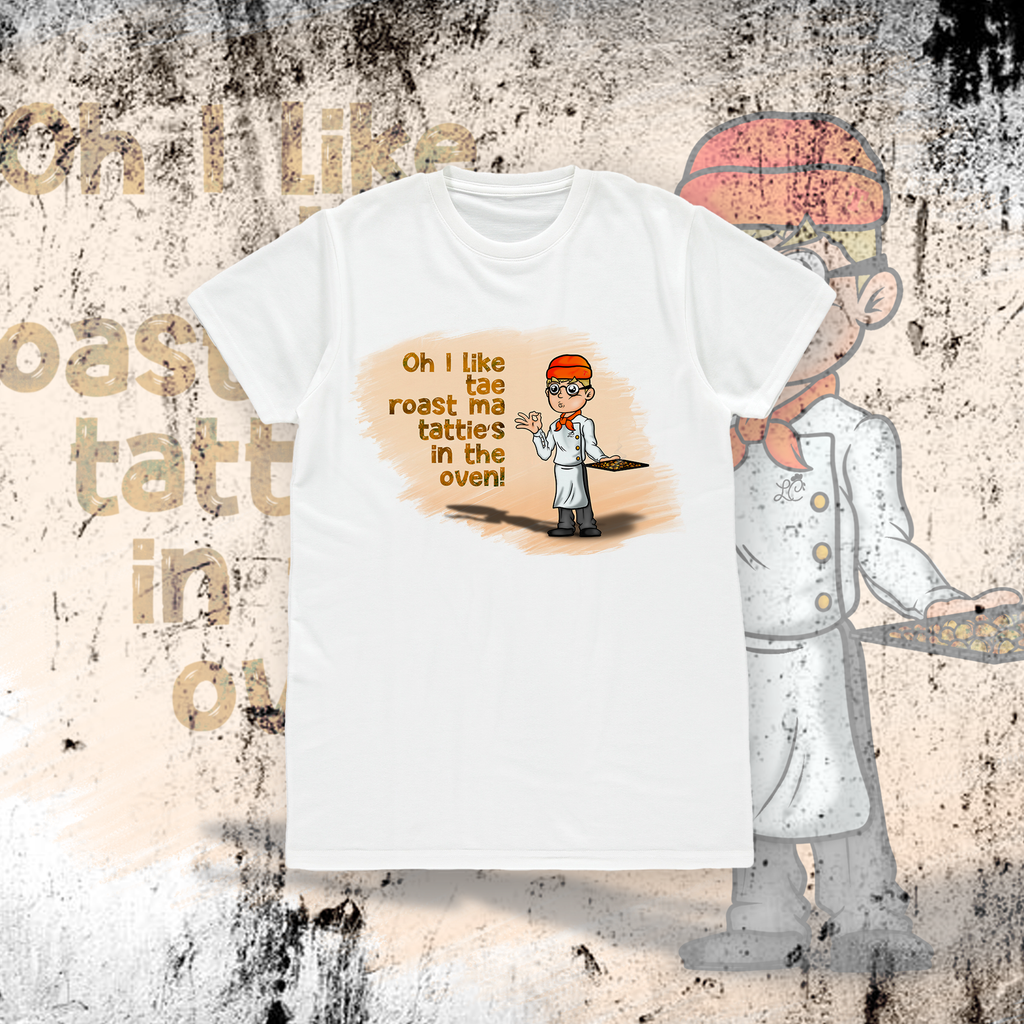 LITTLEST CHICKEN OFFICIAL - Adults Unisex Roast Tatties T-shirt