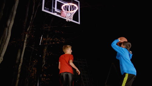 A/C Powered Light It Up LED Basketball Rim Light
