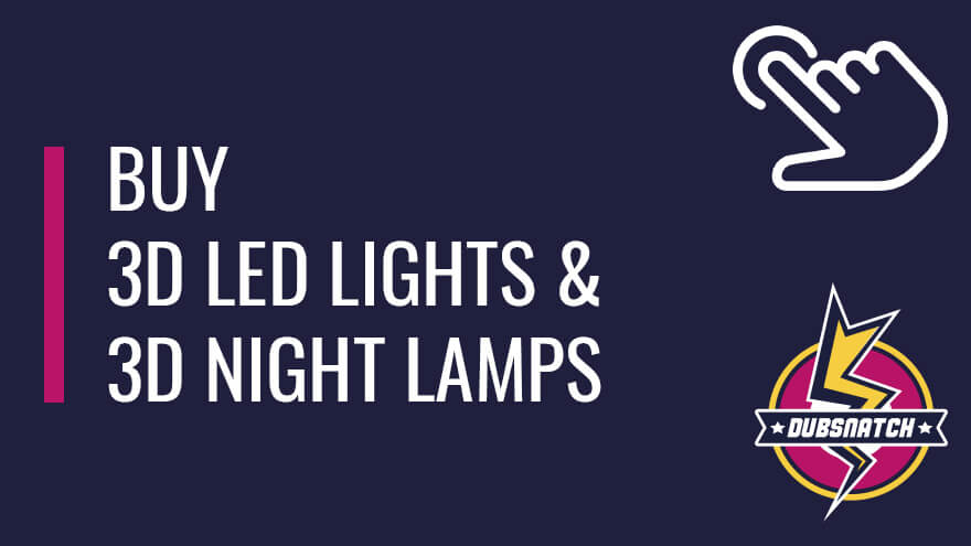 Buy 3D LED lights and 3D night lamps