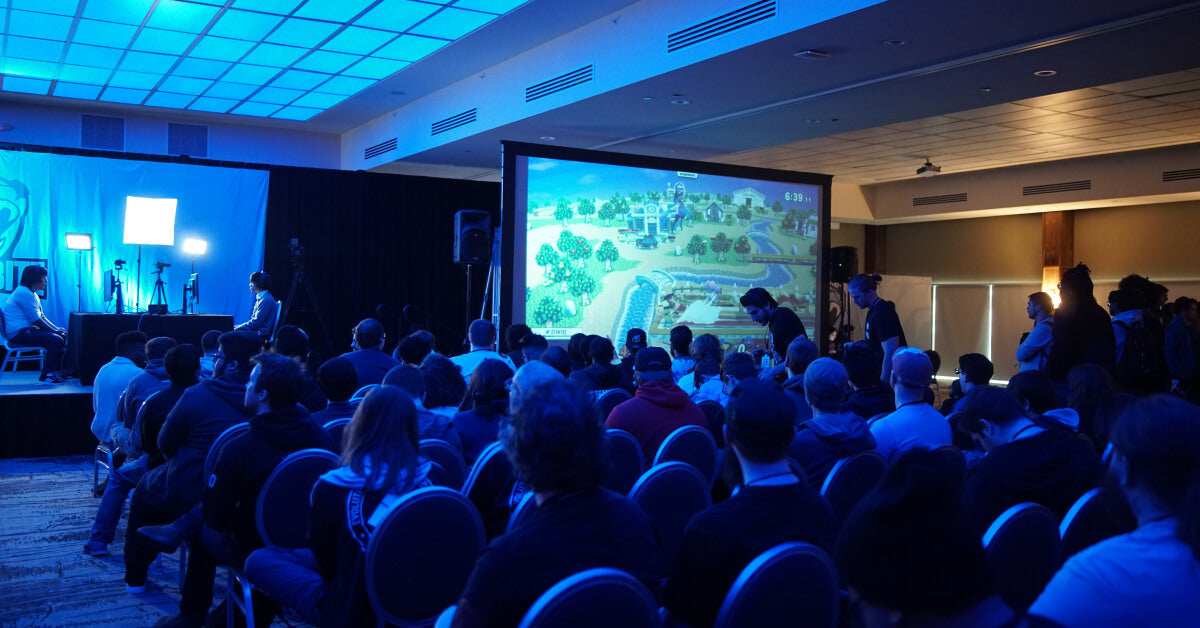 A video game conference with esports matches
