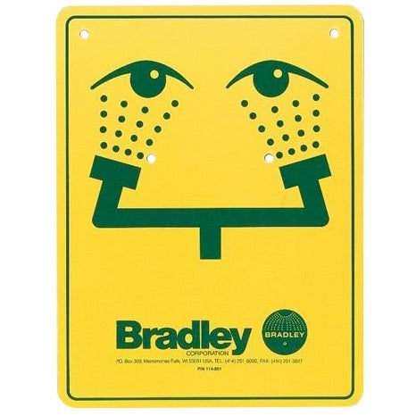 Bradley 114-051 Safety Sign Eye-Wash