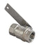 "Bradley S30-061 Stainless Steel 1"" NPT ball valve with lever"