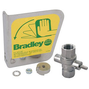 Bradley S30-116 316 Stainless Steel eyewash handle with hardware