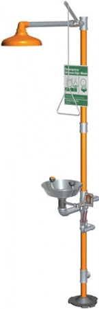 Guardian G1943 Safety Shower with Eyewash, Scald Protection Valve