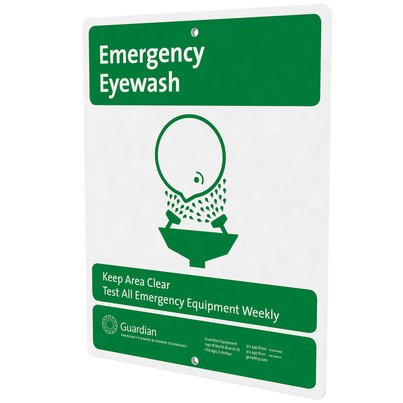 Guardian 250-007G Emergency Eyewash Safety Sign