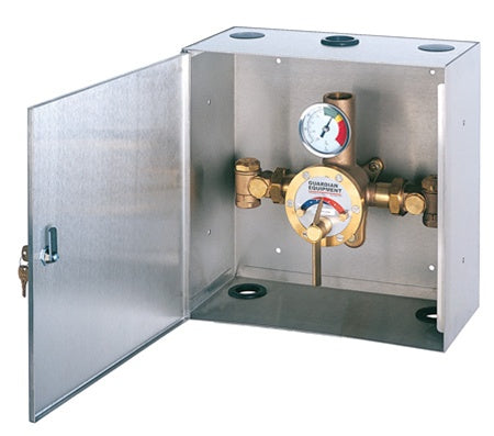 Guardian G3702 Thermostatic Mixing Valve in a Surface Mounted Cabinet, 34 Gallon Capacity