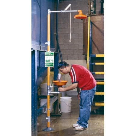 Guardian G1902P Safety Shower Eyewash Station Combo Unit, Plastic Bowl