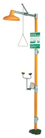 Guardian G1931 Safety Shower with Eye/Face Wash Station, Less Bowl