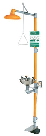Guardian G1909HFC Safety Shower with WideArea Eye/Face Wash, Hand/Foot Control, Stainless Bowl