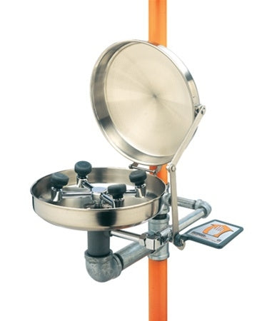 Guardian G1909BC Safety Shower with WideArea Eye/Face Wash, Stainless Steel Bowl and Cover