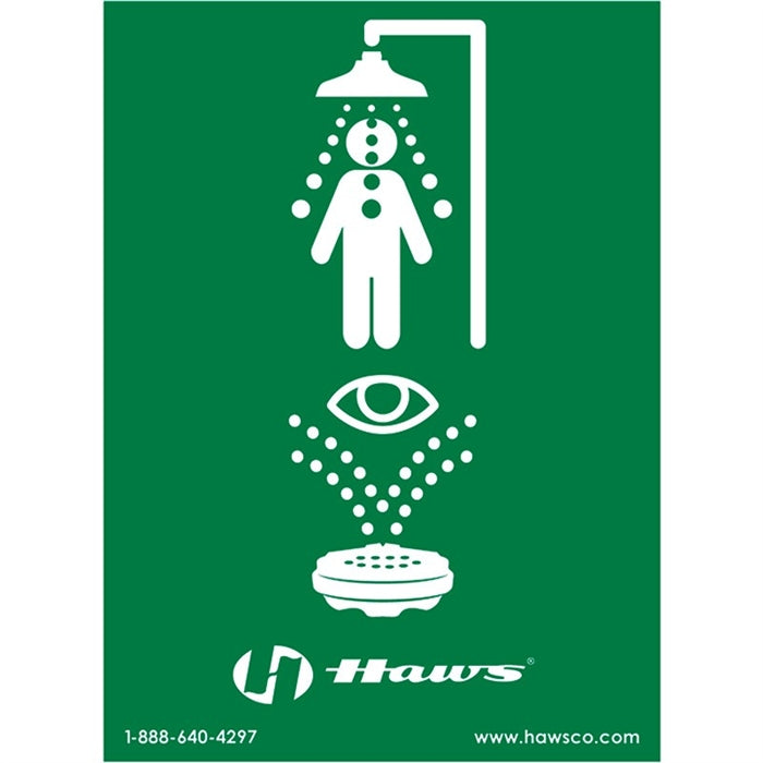 Haws SP178 Combination Eyewash Safety Shower Sign