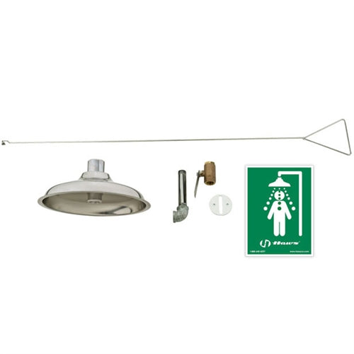 Haws 8163 Concealed Ceiling Drench Shower w/ Stainless Steel Shower Head