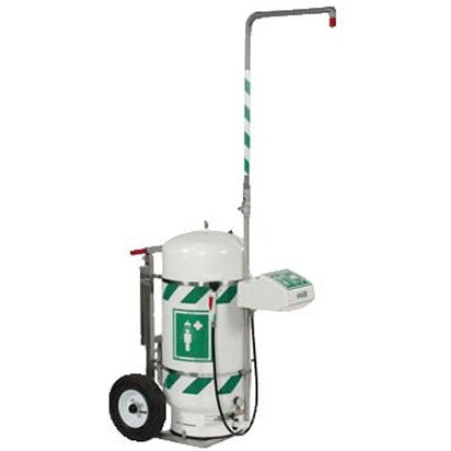 Hughes 40K45G Mobile Safety Shower and Eyewash with Integral Stainless Steel Cart