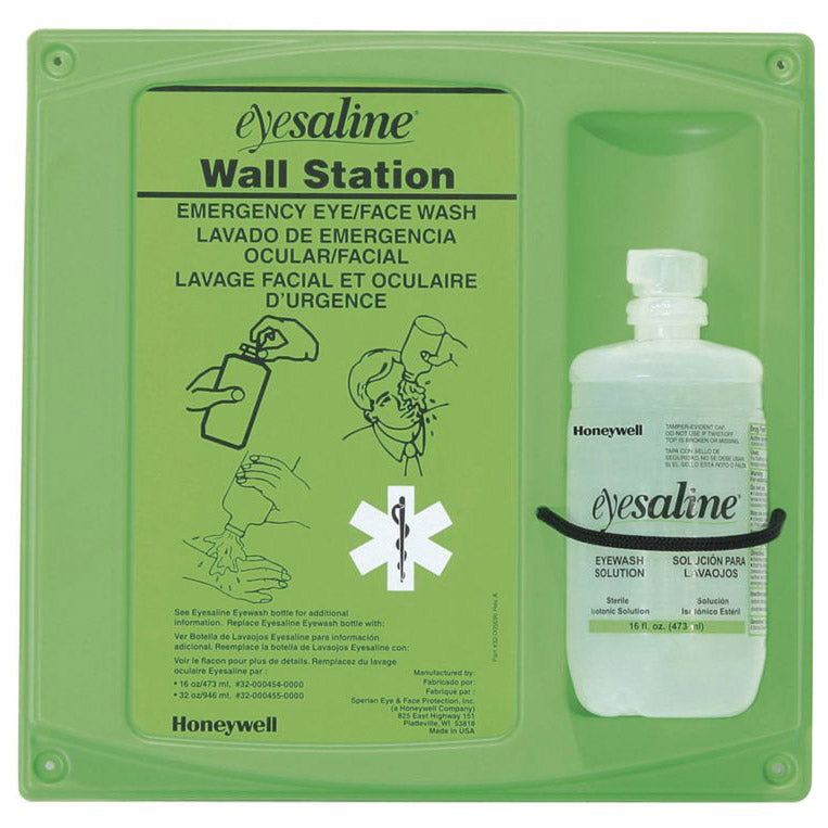 Honeywell Eyesaline Bottle Eyewash Station, Single, 16 oz., 320004600000