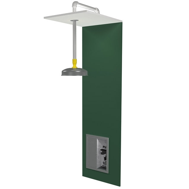 Bradley S19-125FMBF Barrier Free Recess-Mounted Drench Shower w/ Recess-Mounted Handle and Flush-Mountred Showerhead