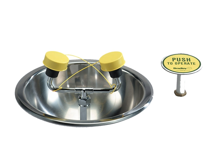 Bradley S19-260, Deck-Mounted Eye/Face Wash Fixture