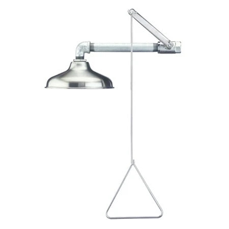 Guardian G1643SSH Emergency Drench Shower, Horizontally Mounted, Stainless Steel Head