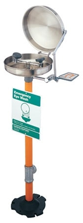 Guardian G1760BC Eye/Face Wash Station, Pedestal Mounted, Stainless Steel Bowl and Cover