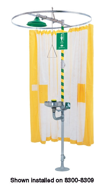 Haws 9037 Privacy Curtain for Safety Showers and Combination Eyewash Drench Showers