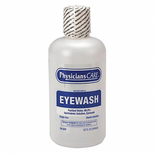 Physicianscare 24-201 32 oz Personal Eye Wash Bottle, For Use With Mfr. No. 24-202, 24-300
