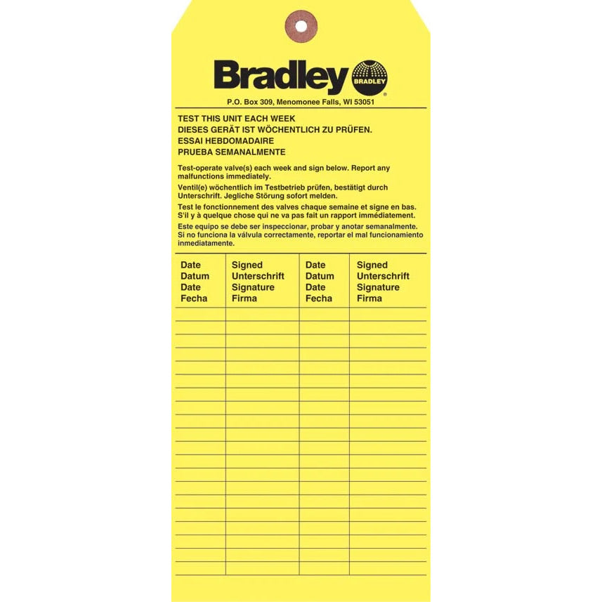 Bradley 204-421 Emergency Inspection 1 Each
