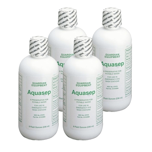 Guardian G1540BA-R Aquasep Eyewash Water Preservative, 4 Bottles