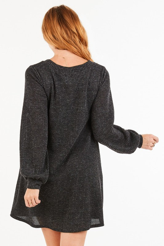 V Neck Sweater Dress (more colors)