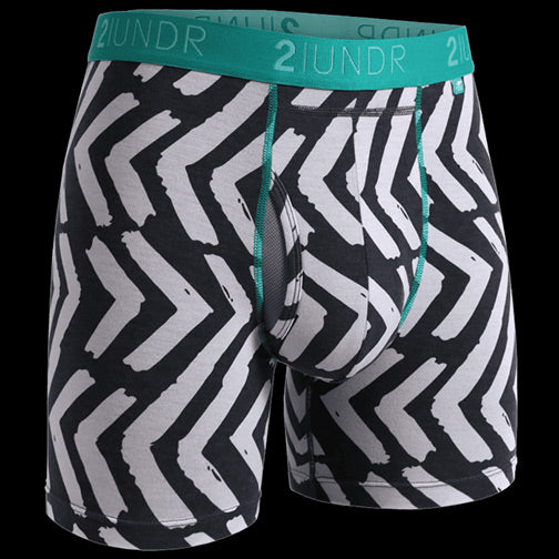 2UNDR Swing Shift Active Comfort 6-Inch Print Boxer Brief 2U01BB-PRINT