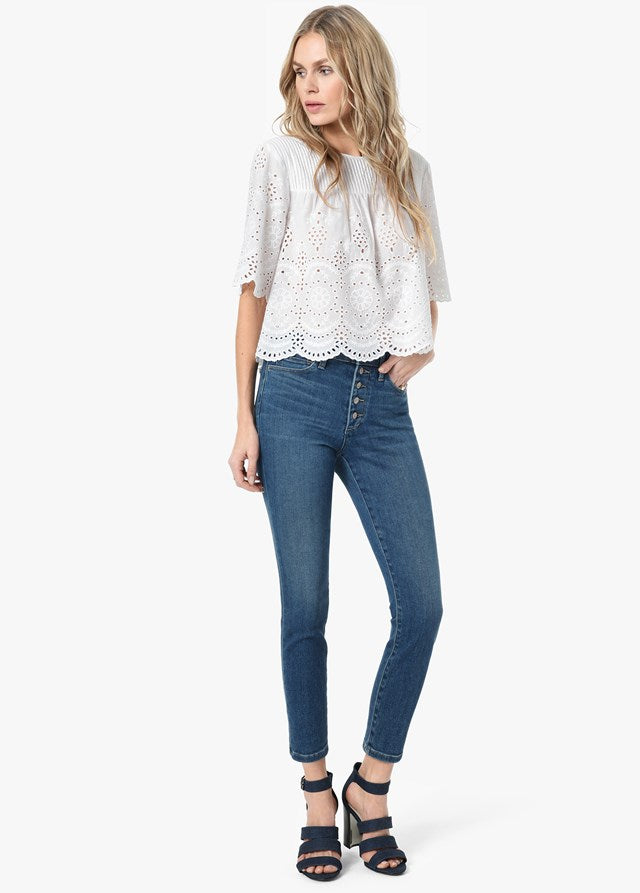 Joes Jeans Charlie High Rise Skinny Crop Jean-Nessa CKSNES5734-NESSA