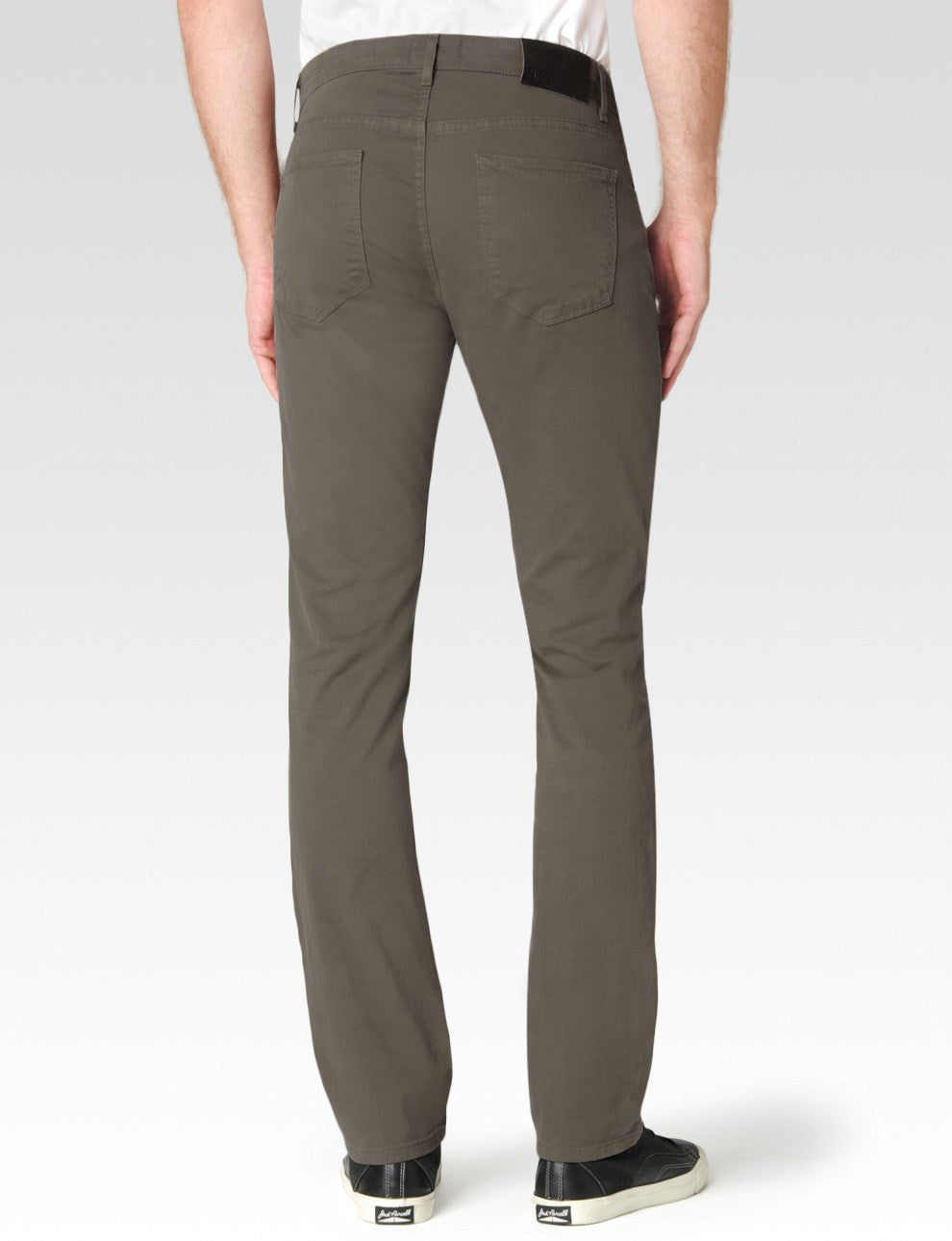 Paige Normandie Slim Fit Straight Japanese Twill Jean Desert Taupe