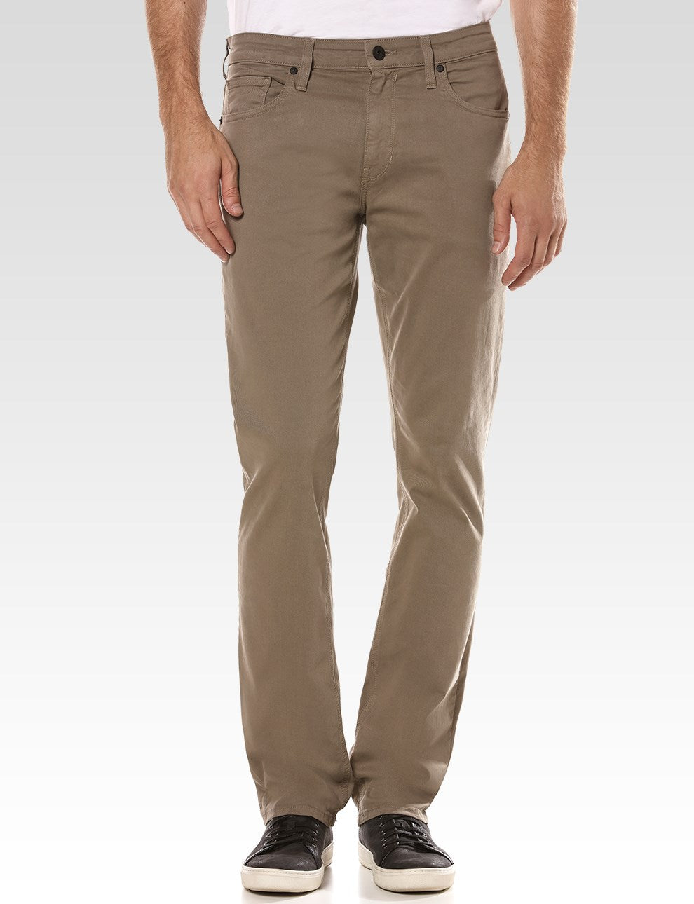 Paige Normandie Slim Fit Iron Mountain Twill