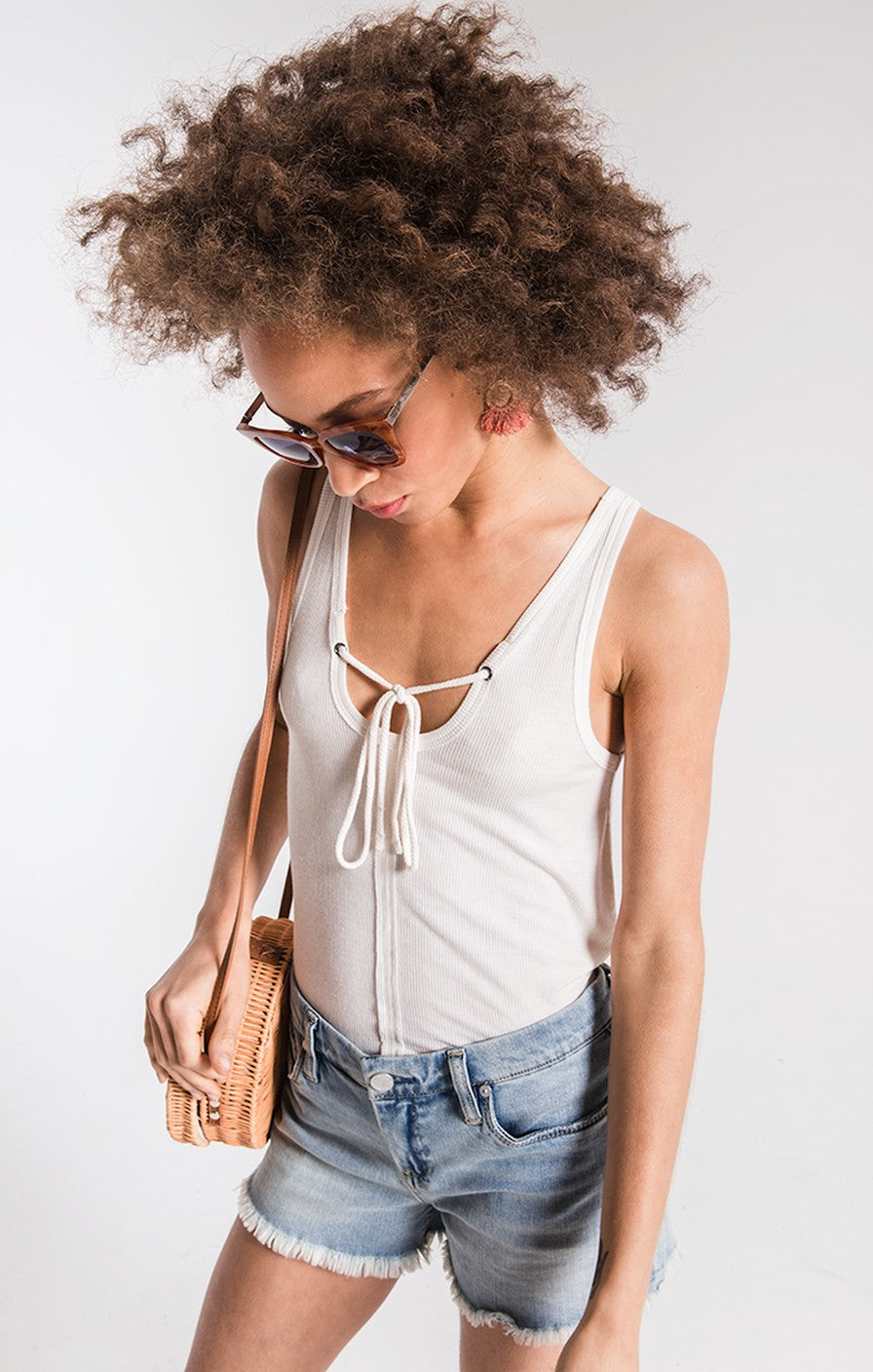 Z Supply Micro Rib Tie Front Tank (more colors)