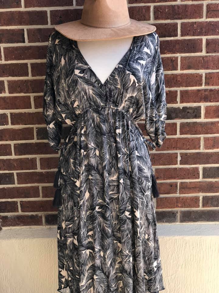 Leaves Print MidiDress (more colors)