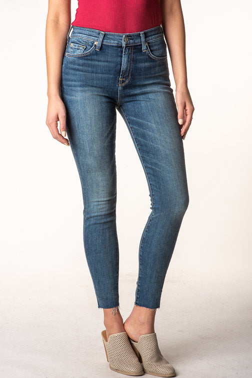 7 For All Mankind Hightwaist Skinny Ankle Jean BALU