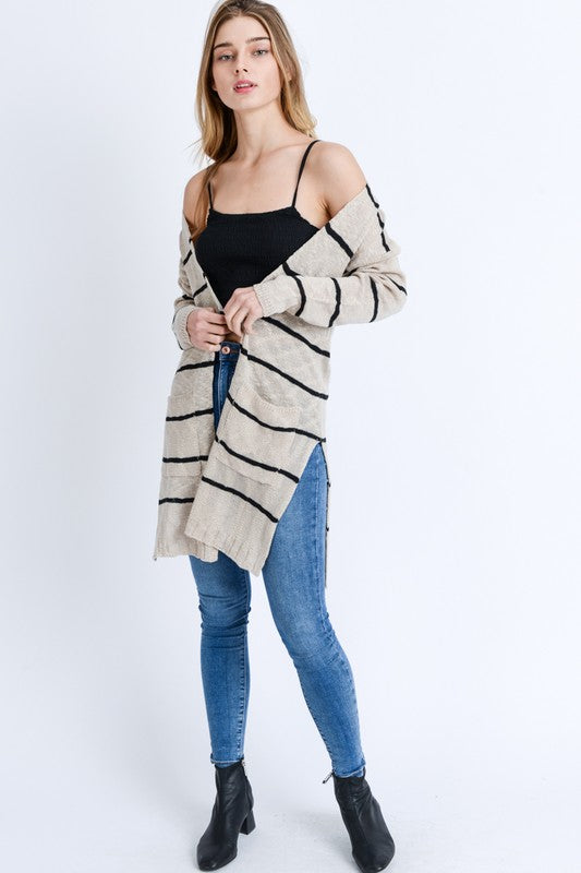 So Basic Stripe Cardi (more colors)