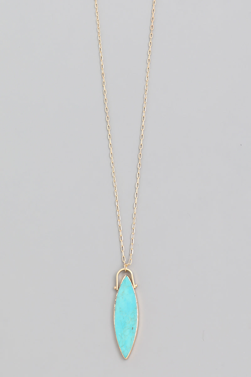 Semi Precious Stone Pendant (more colors)