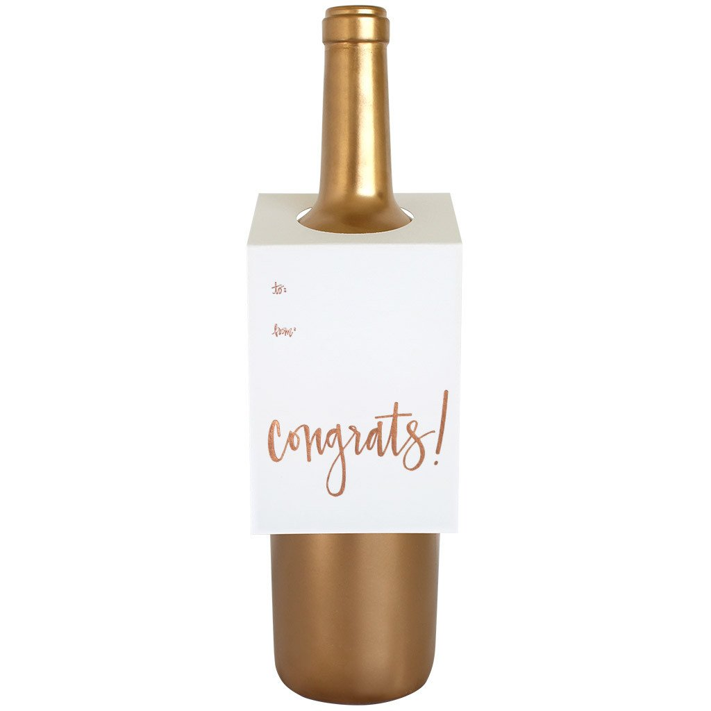Congrats Wine Card
