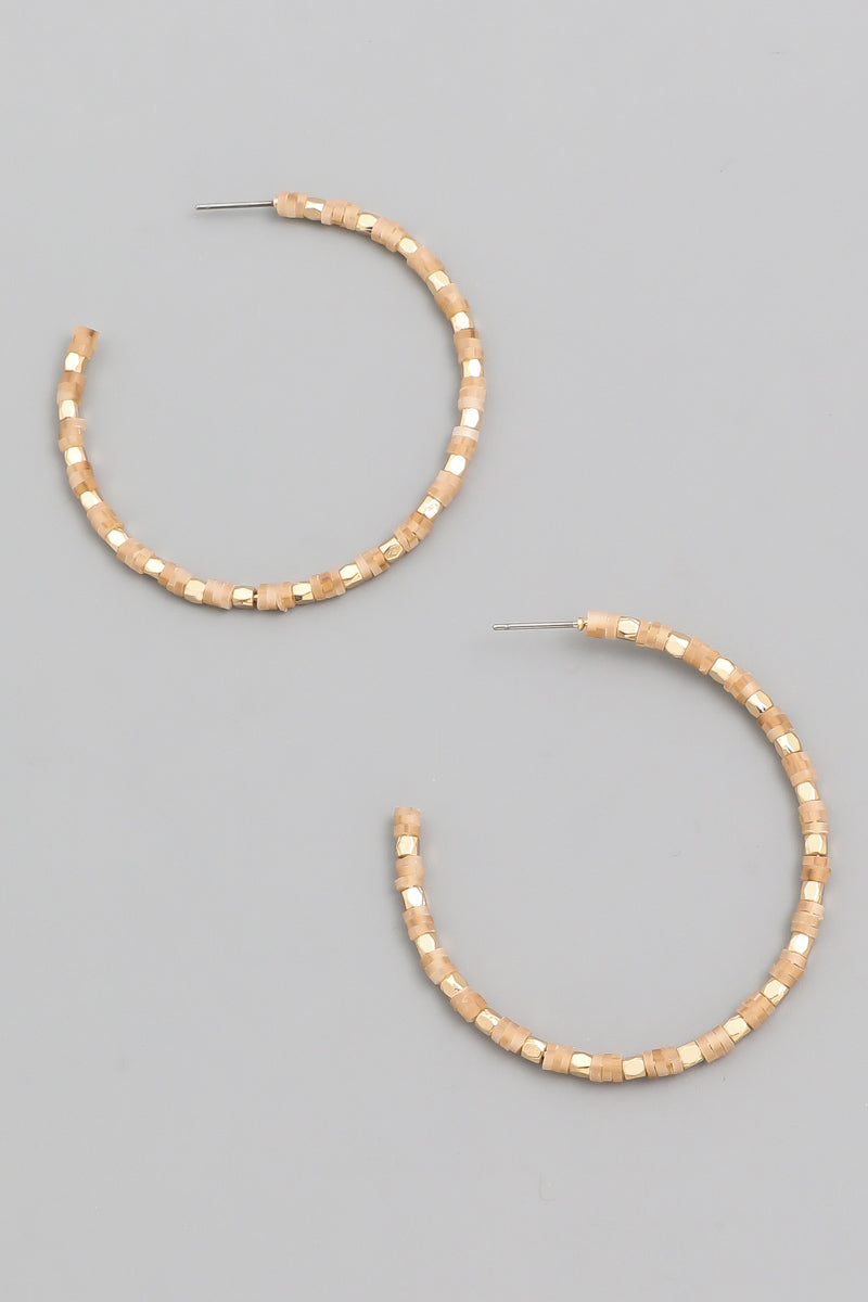 Beaded Hoops (more colors)
