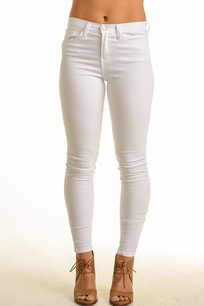 Flying Monkey Midrise Super Soft White Skinny Jean
